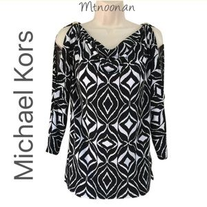 Michael Kors Tops - Michael Kors Cowl Neck Tunic Slit Shoulders