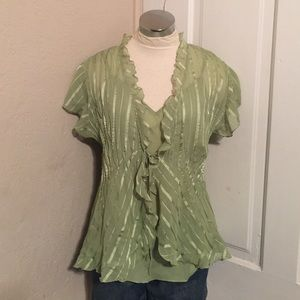 Two piece top size large