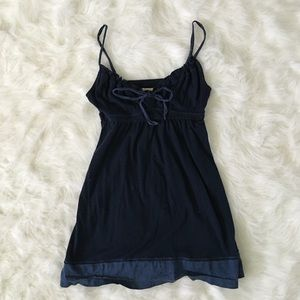 Hollister Tops - Hollister Navy Tank Top Cami with bow detail