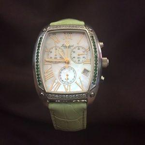 Lucien Piccard Accessories - Lucien Piccard $1595 list diamond tsavorite watch