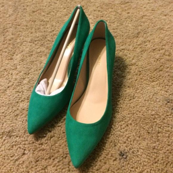49% off Nine West Shoes - Emerald green kitten heel pumps NineWest ...