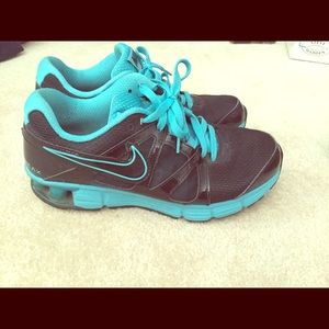 Nike Shoes - Blue and black NIKE tennis shoes!!!