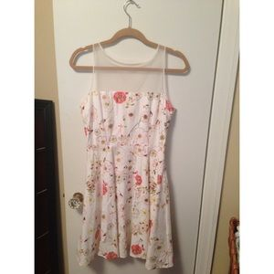 BB Dakota white floral dress