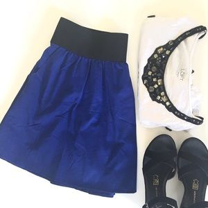 Express Cobalt Blue Skirt