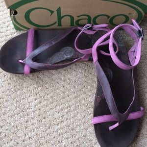 Chacos Shoes - Excellent Chaco Sofia Gladiator Thong Violet sz7