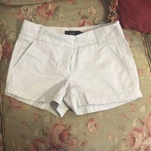 """J.Crew 3"""" chino shorts, 00"""
