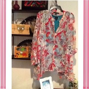 Fever London Tops - FLORAL TUNIC TOP