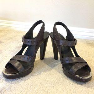 Donald J. Pliner Shoes - DONALD J PLINER chocolate brown heeled sandals