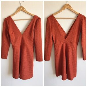 Urban Outfitters Dresses & Skirts - NWT Urban Outfitters Textured Plunge Dress
