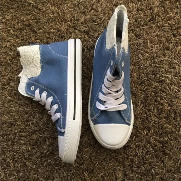 Sky blue sneakers for girl. Size 13. New in box