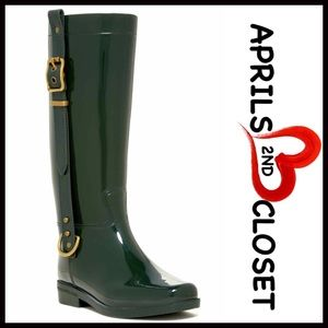 Modern Rush Shoes - ❗1-HOUR SALE❗RAIN BOOTS Glossy Tall Buckle Boots