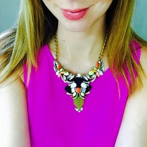 Stunning jcrew statement crystal necklace