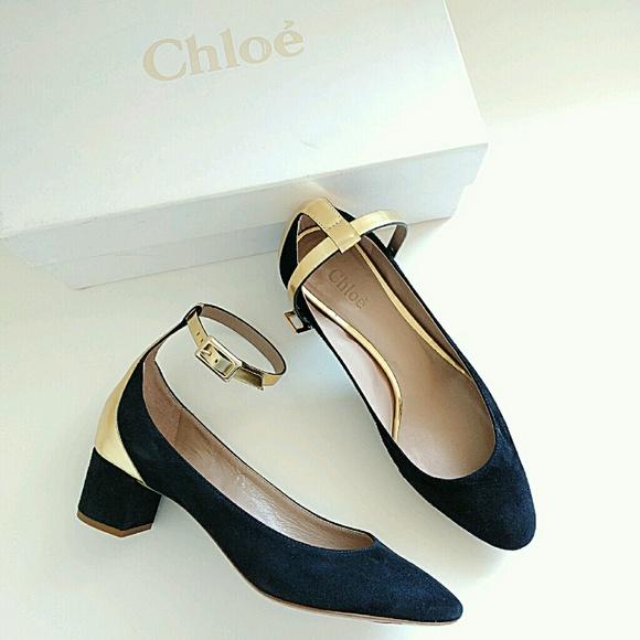 ff24a8ab75e0 Chloe Heaven Ankle Strap Pumps Black 6.5