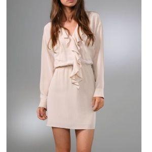 Rory Beca Dresses & Skirts - Rory Beca Claudia Ruffle Dress-Silk-Ivory