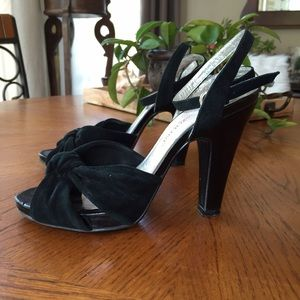 Carlo Pazolini Shoes - Carlo Pazolini black suede sandals; size 5