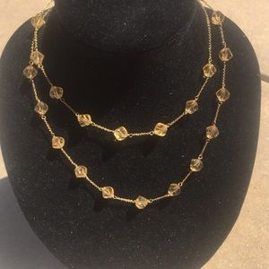 New Banana Republic gold stone necklace