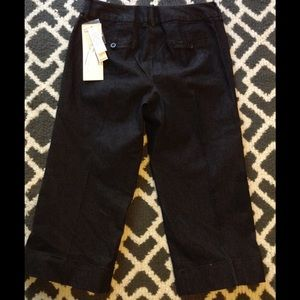 Larry Levine crop black pant size 4