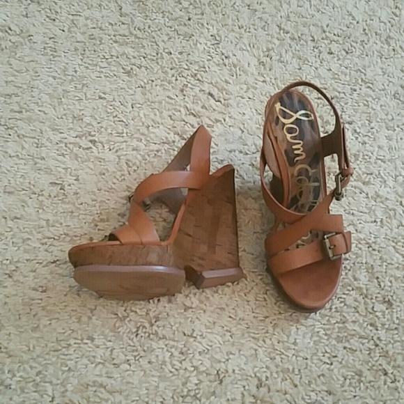 85 sam edelman shoes edelman saddle brown platform