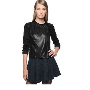 Ella Moss Jackets & Blazers - Ella Moss Sequin Moto Jacket NWOT