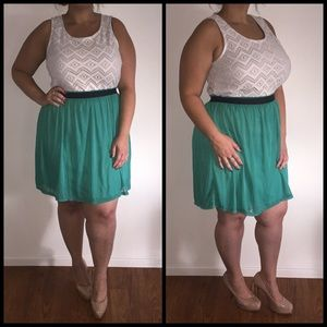 Dresses & Skirts - Ivory & Green Dress*