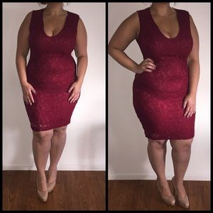 Dresses & Skirts - Maroon Red Sexy Dress*