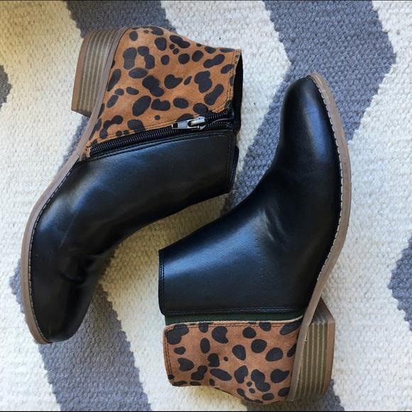 6cb2db009998 Dolce Vita Shoes - Dolce Vita leopard booties size 9.5