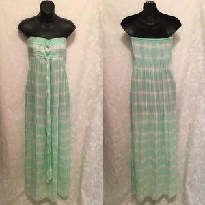 Tiare Hawaii Dresses & Skirts - Sea Green Strapless Maxi