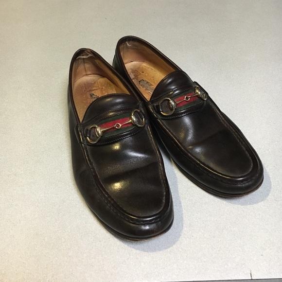 38cb01f5b99 AUTHENTIC Vintage Men Gucci Loafers. M 5765f58e6d64bcb677024f1e