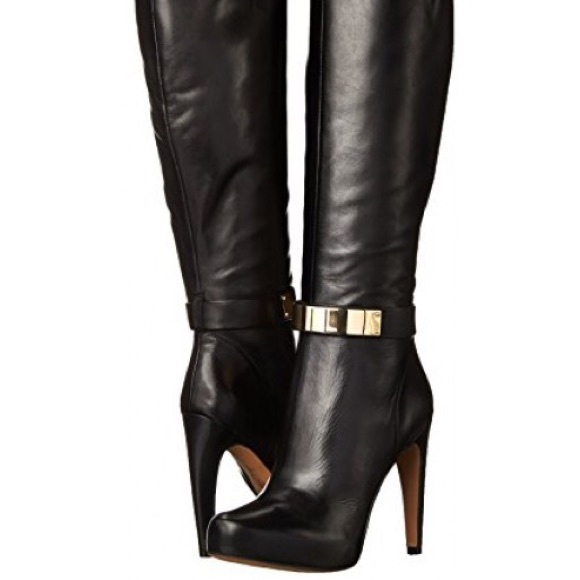 46af88e27af30 Sam Edelman Klara Gold Plate Knee High Dress Boot.  M 5765f83f4225be063a011482