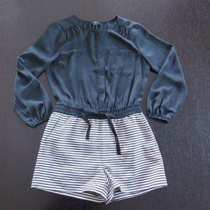 Loft Black & White Romper