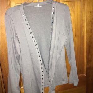 Fashion Bug Sweaters - Fashion bug gray throw over sweater