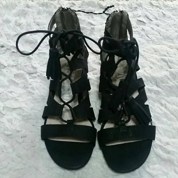 e4cf9024332 Sam   Libby Black Gladiator Sandals. M 5766097ed14d7bff1401494e