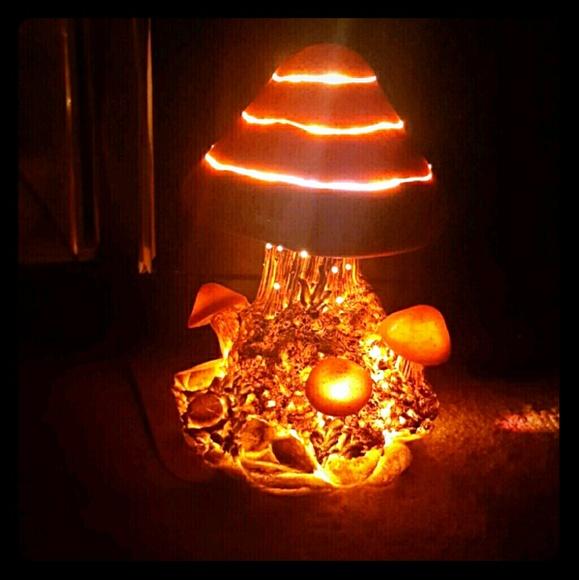Vintage Fiber Optic Mushroom Lamp Os From Iivexation S