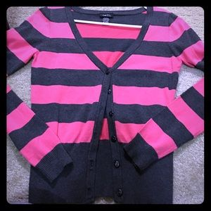 Pink and black cardigans!