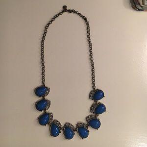 J Crew Cobalt Blue Teardrop Necklace