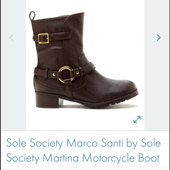 89 off sole society shoes marco santi motorcycle boots from addy 39 s closet on poshmark. Black Bedroom Furniture Sets. Home Design Ideas