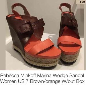 Rebecca Minkoff platform sandals. Final price