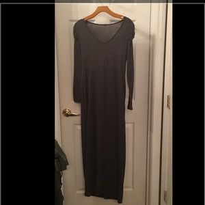 Gray long sleeve maxi dress S/M