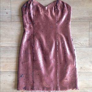 Naven Dresses & Skirts - Naven Pink Sequin Strapless Dress