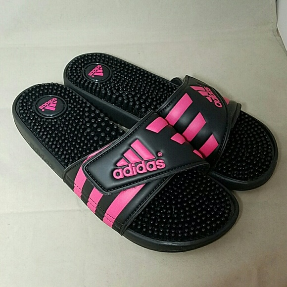 b3b648c94 Adidas Shoes - ADIDAS Sz 7  nwot  Black   Hot Pink Slides Sandals