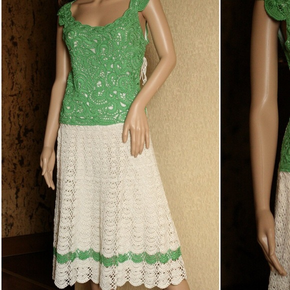 Mag Tricotes Dresses Hand Crochet Italian Silk Special Occasion