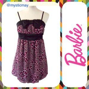 Barbie Dresses & Skirts - Official BARBIE Pink Leopard Spot Mini Dress Sz 2