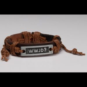 Jewelry - WWJD Bracelet. Leather what would Jesus do.