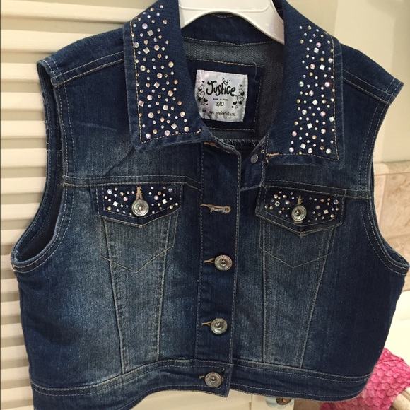 7a92d07b1 Justice Jackets & Coats | Jean Vest For Girls Kids Size 8 10 | Poshmark