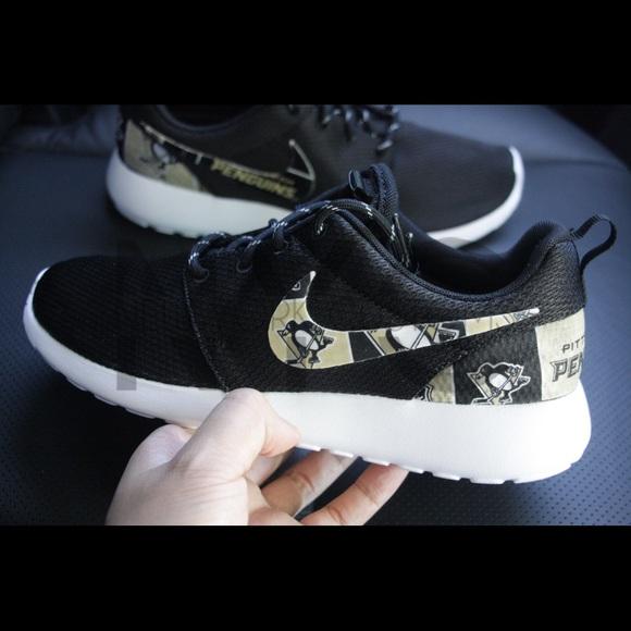 Nike Shoes Pittsburgh Penguins Nike Roshe One Custom