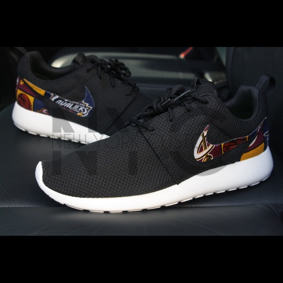 Nike Roshe One Black Cleveland Cavaliers Custom Men & Women