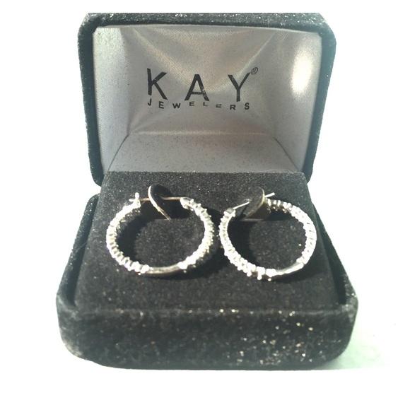 Kay Jewelers Diamond Hoop Earrings from Tahjanae s closet on