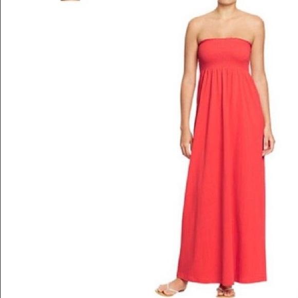 258ee9726af Smocked Tube Top Maxi Dress