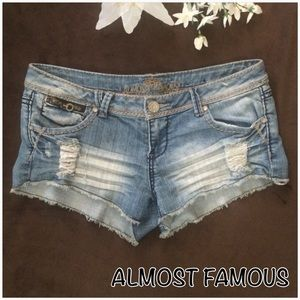 Almost Famous Pants - Almost Famous- Distressed Jean Shorts