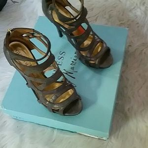 Guess by Marciano bronze leather heels